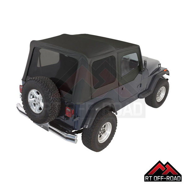 Jeep Yj Soft Top Replacement Bow Kit 88 95 Jeep Wrangler: Complete Soft Top OEM Style With Frames & Hardware. Black